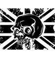 british flag with skull head vector image