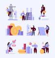 builders talking business dialogue real estate vector image