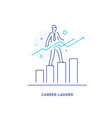 businessman climbing graph career success vector image vector image