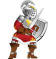 Cartoon knight vector image vector image