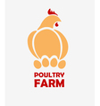 Chicken logo design template vector image