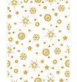 christmas pattern background with golden vector image vector image