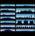 cityscape silhouette background isolated on black vector image vector image