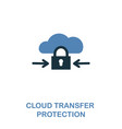 cloud transfer protection icon in two colors vector image vector image