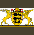 coat of arms of baden-wuerttemberg the land of vector image