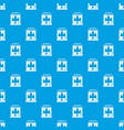coffee machine pattern seamless blue vector image vector image