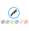 comb rounded icon vector image
