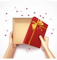 confetti gift box composition vector image vector image