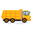 construction car with stairs dump truck vector image