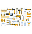 construction tools building repair hand tools vector image