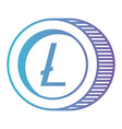 cryptocurrency litecoin coin isolated icon vector image vector image