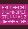 cute knitted abc alphabet knitting pattern on vector image