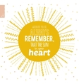 Cute summer card with ornament sun and vector image