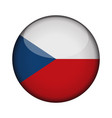 Czech republic flag in glossy round button of