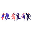 dancing party celebration dressed-up adult people vector image vector image