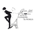 Fashion girl in sketch-style vector image vector image