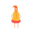 freak man character in funny bell costume freaky vector image vector image