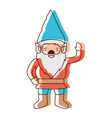 gnome with costume and gesture of greeting in vector image vector image