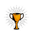 gold cup winner achievement award vector image vector image