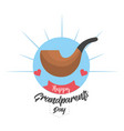 grandparents day with pipe and ribbon design vector image vector image