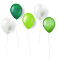 green balloons isolated vector image vector image
