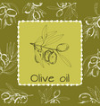 hand-drawn logo of olives vector image vector image
