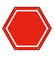 hexagon of road sign red icon flat vector image