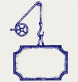 Hook of a crane and banner vector image vector image