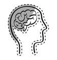 Human brain scribble vector image