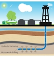 Hydraulic fracturing vector image vector image