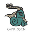 image of capricorn astrological sign of zodiac vector image