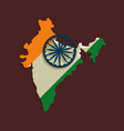 india map icon vector image vector image