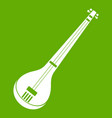 indian guitar icon green vector image vector image