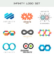 Infinity logo set Infinity color symbols Infiniti vector image vector image