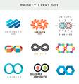 infinity logo set infinity color symbols infiniti vector image vector image