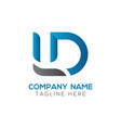 initial ld letter business logo design template vector image vector image