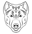 Ink sketch dog vector image