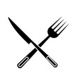 knife and fork icon vector image vector image