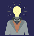 lamp suit man vector image vector image