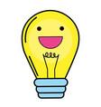 light bulb kawaii vector image vector image