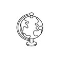 line earth planet map desk object vector image vector image