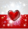 love poland flag heart background vector image vector image