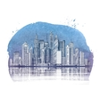 Modern City Buildings and Skyscraper Urban vector image vector image