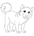 outline animal for cute puppy vector image vector image