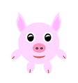 Pink baby pig vector image
