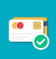 plastic debit or credit card with a payment vector image