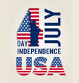 poster for usa independence day design vector image vector image