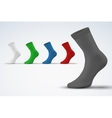 Realistic layout of socks A simple example vector image vector image