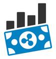 ripple banknote charts flat icon vector image vector image
