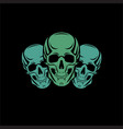 scull black backdround vector image vector image